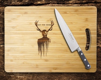 Hannibal Cutting Chopping Board, Eat The Rude. Birthday Gift