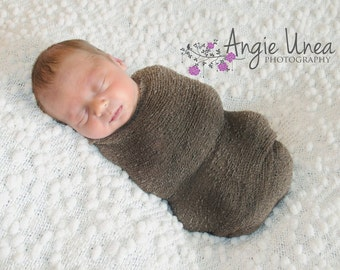 Free Shipping! - Stretch Knit wrap in Soft Brown, newborn wrap, photography prop wrap, stretch wrap, newborn pictures
