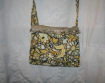 yellow flower purse