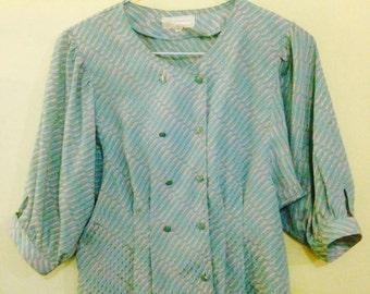 vintage 70s/80s pastel blouse
