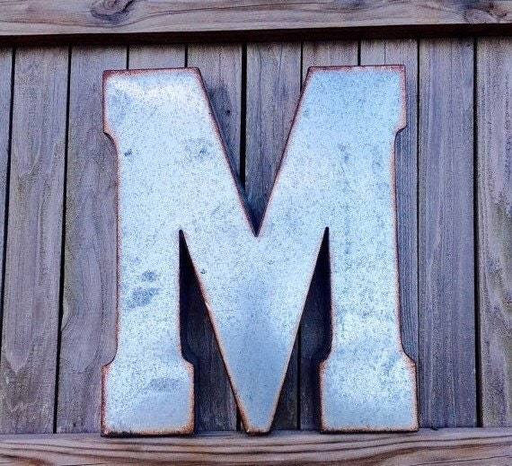 Large Metal Letters For Wall Large Metal Letter Big Letter Wall Letters Rustic Decor Wall