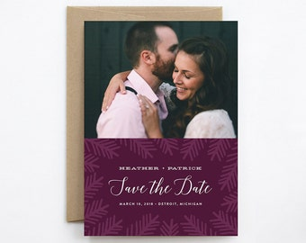 Wedding Save the Date - Pinewood - Card & Envelope