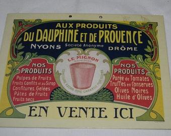 Vintage Style Wall Sign-  - Du Daphine et de Provence