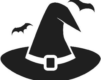 Witch Hat With Bats SVG Cut File