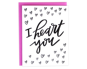 Valentines Day, Valentine Card, I Heart You Card, Boyfriend Valentine Card, Fiance Valentine Card, Husband Valentine Card, My Person