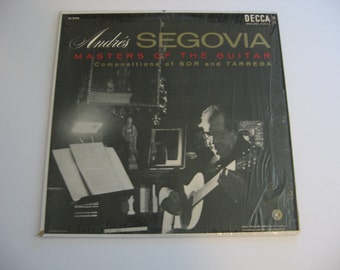 Rare!  Andres Segovia - Masters Of The Guitar - 1956