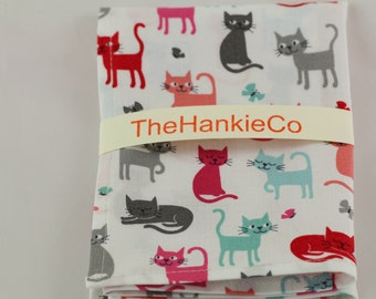 Sweet colourful cats handkerchief