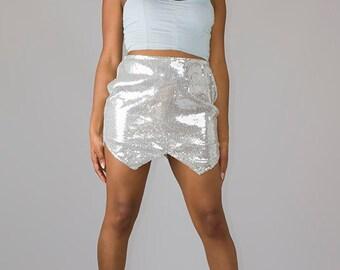 Sequined Skirt 4 Triangle Bottom