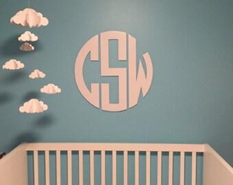Monogram Wall Decor | Etsy