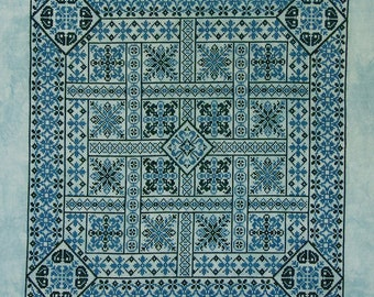 Shades of Turquoise PDF Chart by Northern Expressions Needlework