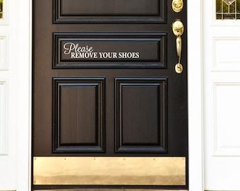 Please Remove Your Shoes Vinyl Decal Sticker Front Door