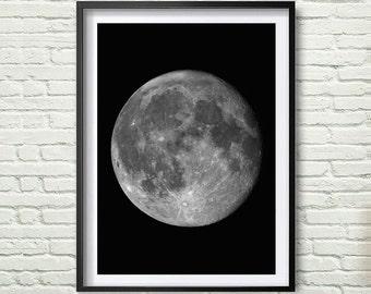 Photo art decor, Moon, Instant download. Digital Print. Wall Decor. Poster Digital Art. Moon Home wall Art. Home Decor *60*