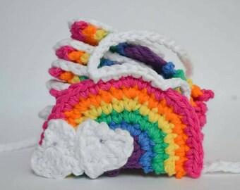 MADE TO ORDER Crochet Rainbow Garland