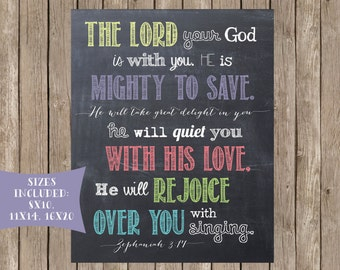 Scripture Printable: Mighty to Save