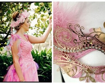 Deluxe Adult CARNIVAL Mardi Gras  Woman's Costume  ~  Fancy  Dress- Up ~ Theatre ~ Masquerade ~ Burlesque