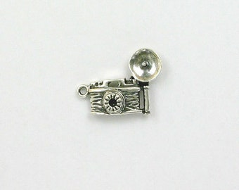 Sterling Silver 3-D Flash Camera Charm