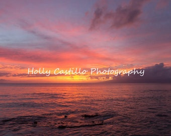 Maui Sunset Fine Art Photograph Multiple Sizes With or Without Mat