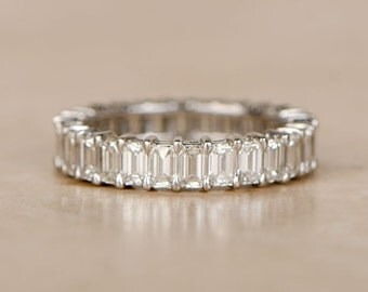 Estate Emerald Cut Eternity Band