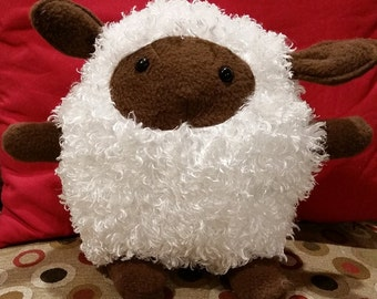 Small Fuzzy Sheep Plushie - Made To Order