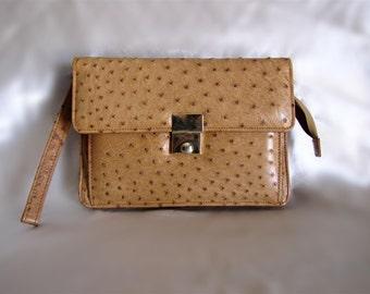 Ostrich Leather Clatch