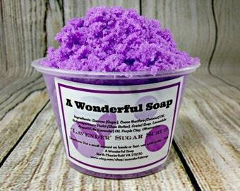 Lavender Sugar Scrub / Exfoliating Sugar Scrub / Natural Sugar Scrub / Foaming Sugar Scrub / Foot Scrub / Hand Scrub