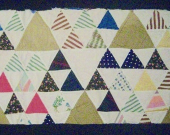 "Vintage Cutter Quilt Piece for Repurpose/Sewing/Crafts--Size is 20"" wide x 12"" high"
