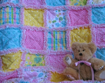 Spring quilt for baby girl