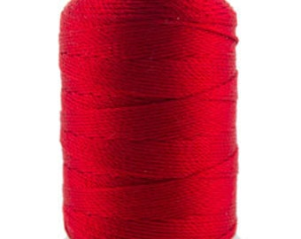 Silk Thread 1/2oz Spool Red Size FF (CD7059)