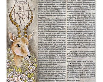 I Wont Relent Bible Journaling Art Print Scripture