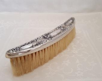 Antique Victorian Art Nouveau Sterling Silver Clothes Brush -EB457
