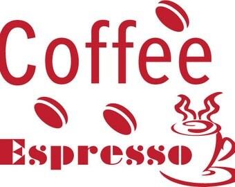 Coffee Espresso Wall Decal