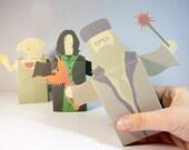 Large Harry Potter Snape Dumbledore Dobby emotibox, greeting card, Harry Potter birthday, birthday card, Snape card, Dumbledore card