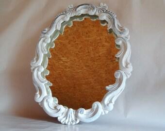 Distressed Mirror - Vintage Mirror - Oval Mirror -