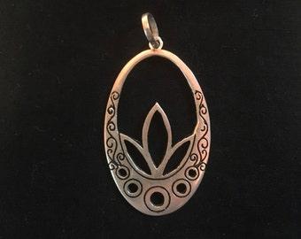 Bali Lotus flower pendant