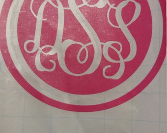 Names, Initials, or Monogram printed on vinyl