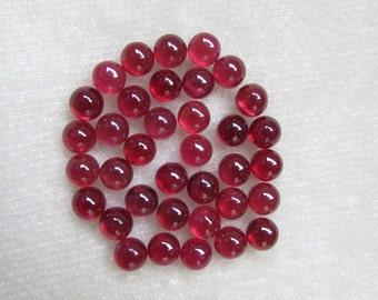 Nice Quality 6 mm ROUND Natural genuine RUBY CABOCHON gemstone..