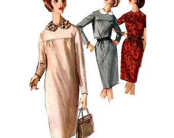 Simplicity Sewing Pattern 5576  Misses' Dress with detachable Collar  Size:  14  Used