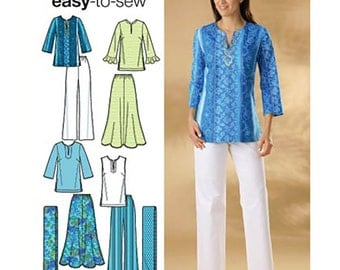 Simplicity Sewing Pattern 4149 Misses' / Women's Skirt, Pants, Tunic, Scarf  Size:  AA  10-12-14-16-18  Uncut
