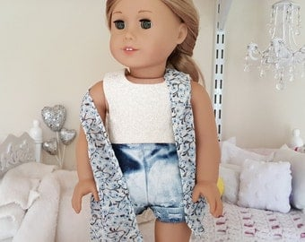 american girl doll knit and lace vest