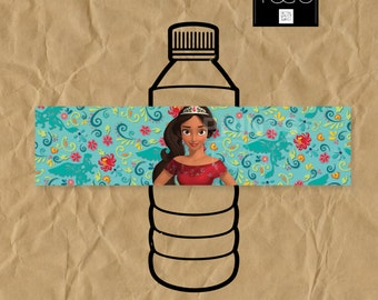 Elena of Avalor Water Bottle Labels, Water Bottle Labels, Labels, Birthday Party, Elena of Avalor Birthday, Instant Download Labels