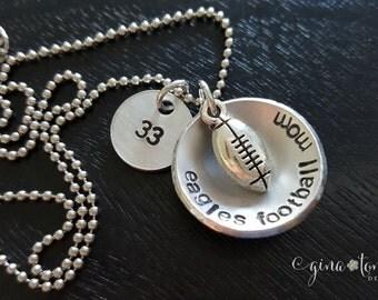 Football Mom Necklace, Football Mom, Football Mom Jewelry, Sports Mom, Football Charm
