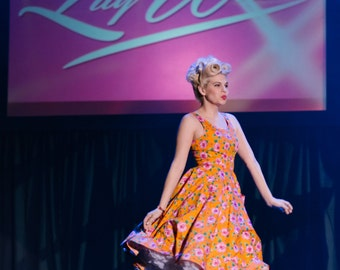 Miss Lily White- Claudie in Orange