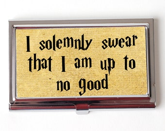 Harry Potter Business Card Case - Harry Potter Quote Business Card Holder