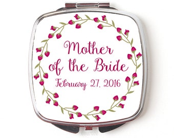 Mother of the Bride Gift - Mother of the Bride Compact Mirror  - Wedding Compact Makeup Mirror