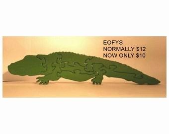 Alligator / Crocodile Puzzle - Green