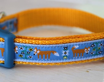 Fox Dog Collar/Forest Friends/Woodland Folklore/Adjustable