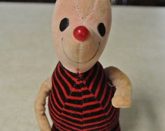 1960's Piglet stuffed with sawdust