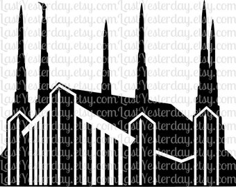 LDS Las Vegas Nevada Temple DIGITAL DOWNLOAD svg dxf jpg png