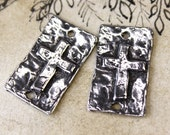Cross Charms, Handcrafted, Handmade, Craft Jewelry Making Supplies No. 384CP