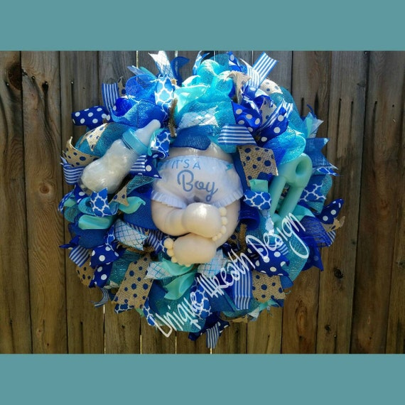 It S A Boy Wreath Baby Boy Wreathbaby Shower Hospital